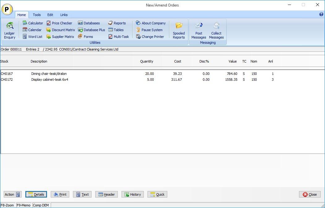 Datafile Purchase Order Processing